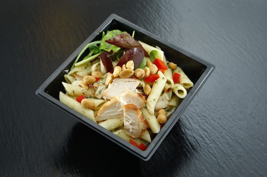 Asian chicken salad with peanut